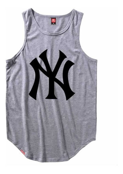 Camiseta Regata Masculina Longline C83 New York