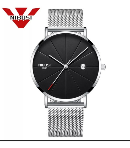 Relógio Nibosi Unissex Luxo Dourado E Prateado Funcional