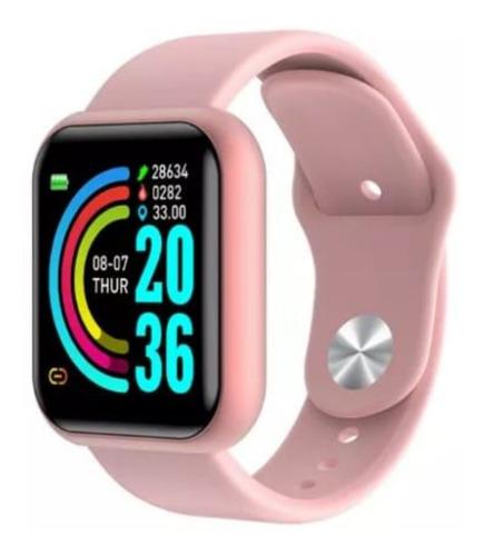 Imagen 1 de 10 de Smartwatch D20 Pro Rosado / Whatsapp // Resistente Agua