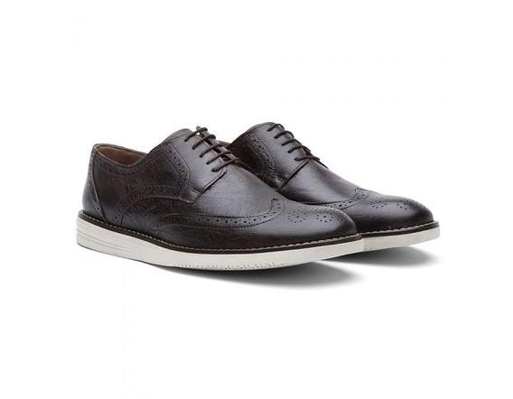 Sapato Casual Oxford Couro Fossil Café 206 - Frete Grátis