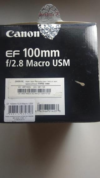 Lente Canon 100mm F/2.8 Usm Macro