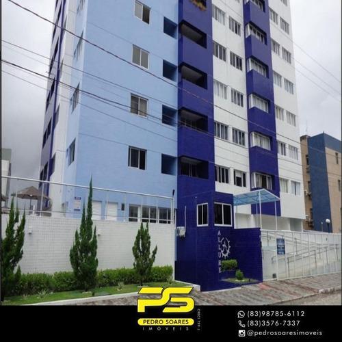 (oportunidade)  Apartamento Com 2 Dormitórios À Venda, 54 M² Por R$ 300.000 - Jardim Oceania - João Pessoa/pb - Ap4387