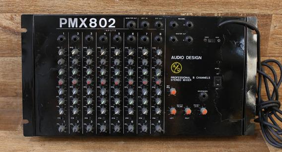 Mixer Mesa De Som 8 Canais Audio Design Pmx 802