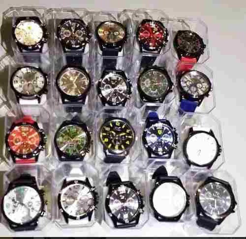 Kit Relógio Masculino Barato Lote C/6pcs Revenda + Caixa Top