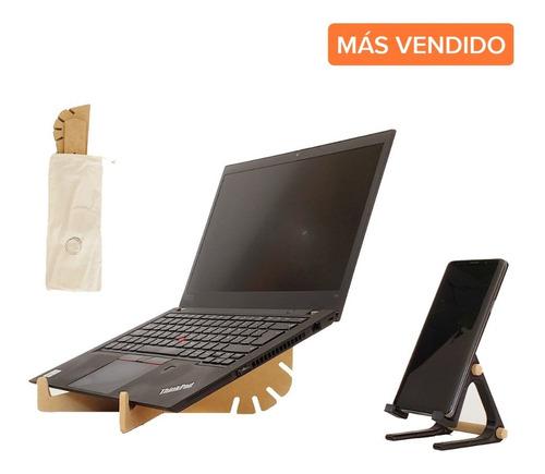 Combo Soporte Notebook Regulable En Altura + Soporte Celular