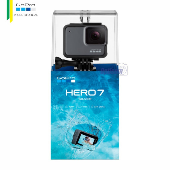 Gopro Hero 7 Silver 4k30 + Cartão 32gb | Oficial Gopro Br