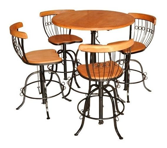 Mesa Bistrô Mais 4 Cadeiras Com Ajuste- Promoção/oferta