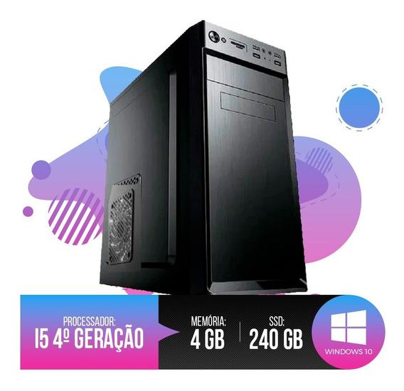 Desktop Pc I5 4ª Geração, 4gb Ram, Hd Ssd 240gb 12x S/ Juros