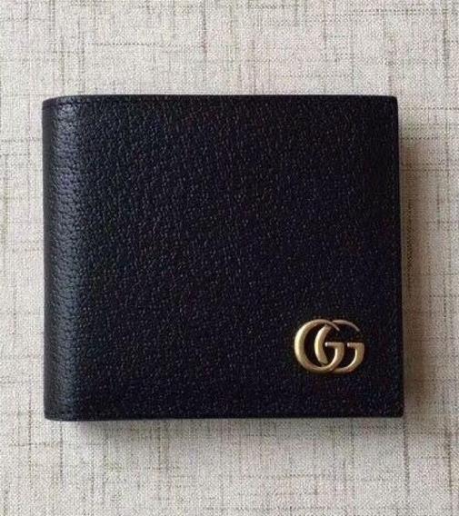Carteira Gucci Masculina Couro Clássica Gg Marmont