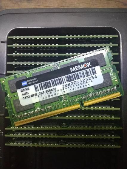 Memoria Ddr3 4gb 1333mhz Pc3-10600 Sodimm Macbook Notebook
