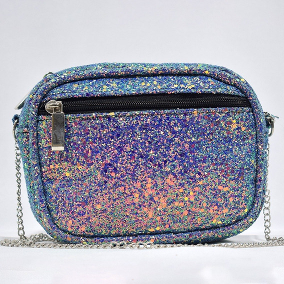 Bolso Ovalado En Glitter
