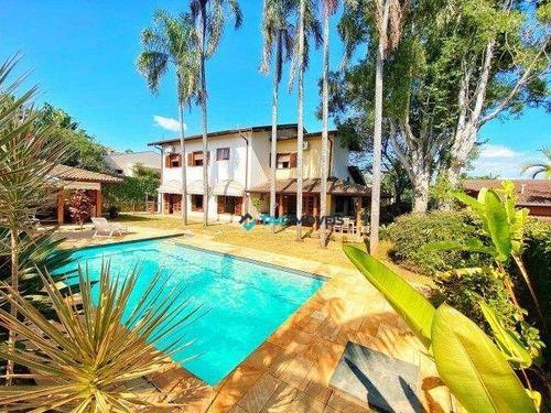 Imagem 1 de 30 de Casa Com 4 Dormitórios À Venda, 430 M² Por R$ 2.700.000,00 - Sítios De Recreio Gramado - Campinas/sp - Ca1113