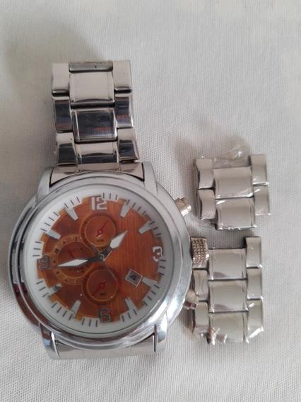 Relógio Masculino ( Usado) Pulseira De Aço Inox Barato