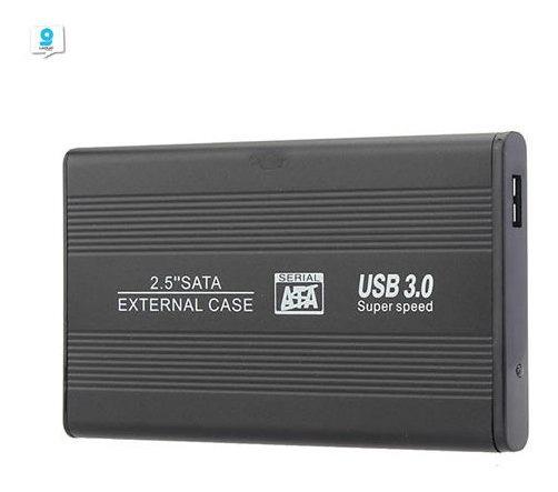 Caja Case Disco Duro Con Bolsa Externa Usb 3.0 Sata De 2.5