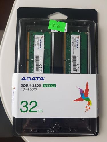 Imagem 1 de 1 de Memória Not Adata Ddr4 32gb (2x16gb) 3200mhz Ad4s320016g22-d