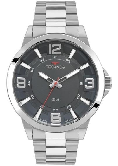 Relógio Masculino Technos Prata Racer 2036mlh/1a Original Nf