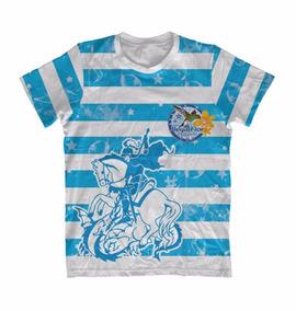 Camiseta Infantil São Jorge São Jorge Listrada - Devoto