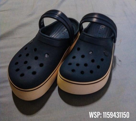 Crocs Con Plataforma. Originales Talle Us 7h Y Us 9m