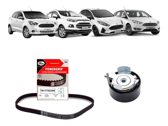 Kit Correia Dentada + Tensor Ford New Fiesta 1.6 16v Sigma