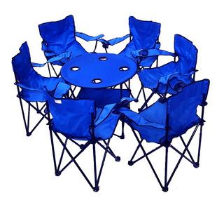 6 Silla Plegables De Playa Y Mesa Playa Alberca Camping