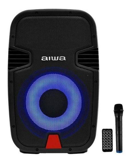 Caixa De Som Aiwa - 800w Bt/usb/sd + Microfone - Preto