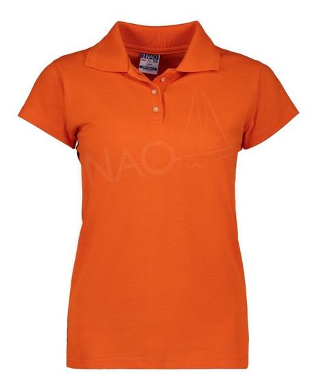 Playera Nao Tipo Polo Naranja De Mujer / Para Promocionales