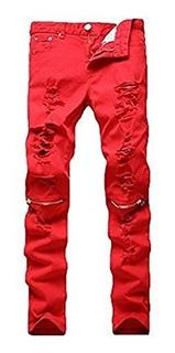 Leward Pantalones De Jean Con Cierre Cremallera De Calce Rec