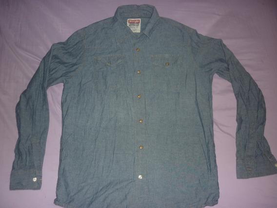 L Camisa Jeans Wrangler Talle M Broches Art 94552
