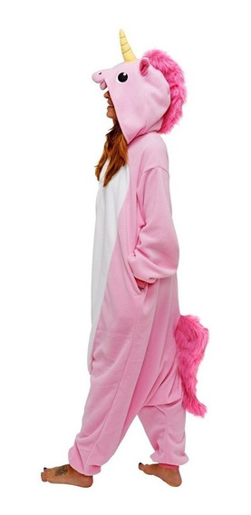 Pijama Unicornio Rosa Kigurumi Disfraz Cosplay Dormir Onesie