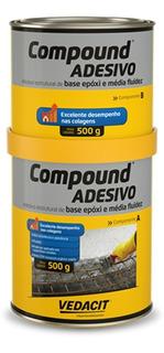 Kit 3 Compound Adesivo 1 Kg - Vedacit Otto/baumgard