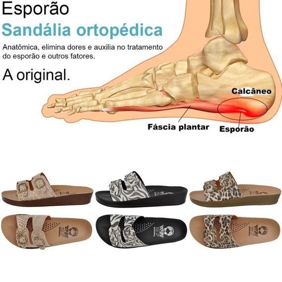 3 Pares Chinelo Sandália Ortopédica Para Esporão Webe Flex