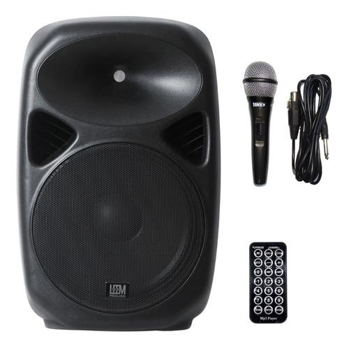 Bafle Potenciado 2 Vias Leem 200w Spa-12 Bluetooth +micro