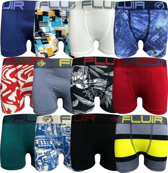 Kit 10 Cuecas Boxer + 10 Calcinhas Sem Costura