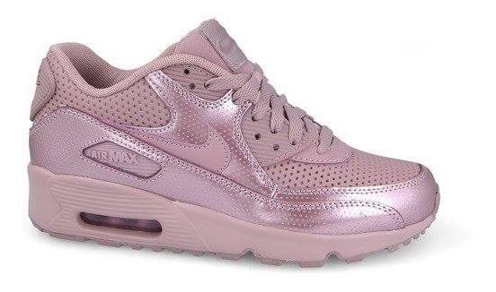 Nike Zapatillas Mujer Zapatos Nike Air Max 90 Se Cuero 8596