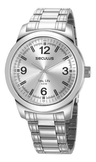 Relógio Seculus Masculino Analógico Prata 23639g0svna2