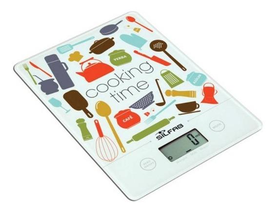 Balanza Digital De Cocina Con Diseño Ultra Slim Silfab Bc300