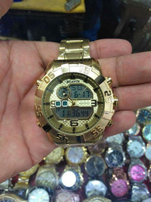 Relógio Atlantis Dourado Masculino