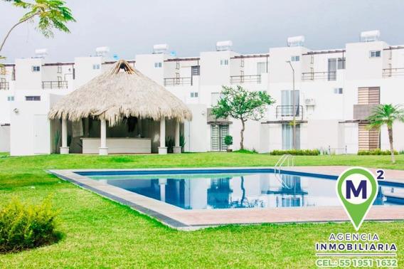 Casa En Condominio En Club De Golf Santa Fe / Xochitepec - M2ai-267-cd