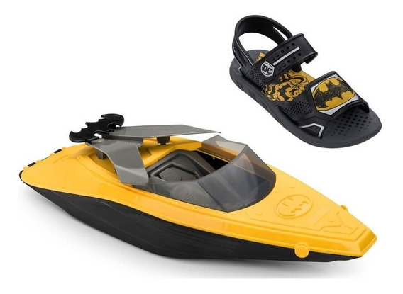Sandália Papete Infantil Grendene Batman Com Lancha Boat
