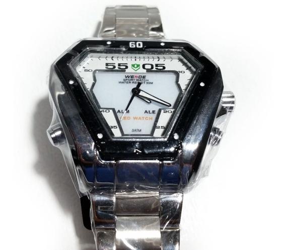 Reloj Digital Analógico Acero Inoxidable Cuarzo Weide Wh1102