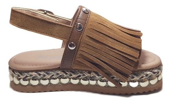 Sandalias Mujer Flecos Plumitas Primavera-veranno N°27/37