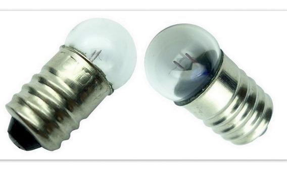 Mini 25 Un Lampada Redonda Base E10 2.5 V 0,3 Mha 0,75 W