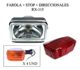 Farola + Stop + 4 Direccionales Rx115