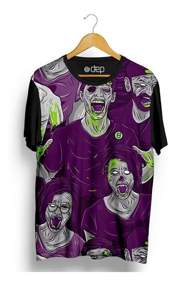 Camiseta Dep Ataque Zumbi Roxa