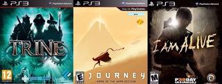 Pack De 3 Juegos Digitales Ps3 Trine, Journey, I Am Alive