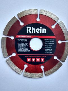 Disco Diamantado Rhein 4.1/2 Segmentado 115 Mm Ramos Mejia