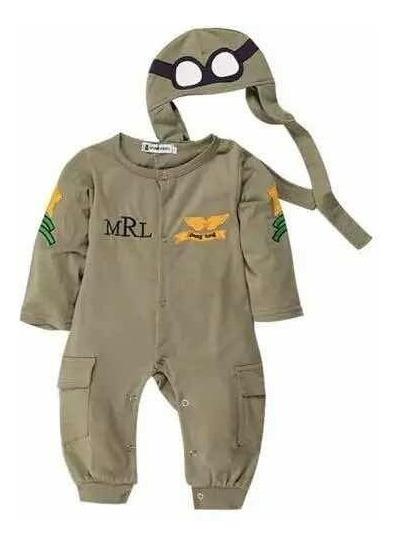 Body Aviador Infantil 6 Meses