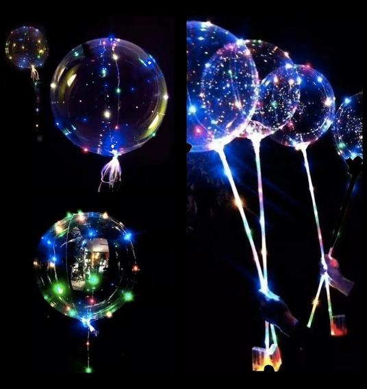 Globo Burbuja Led Transparente Multicolor 30 Luces Luminoso