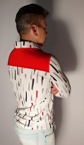 Camisa/camiseta Estampada Tecido Jackard