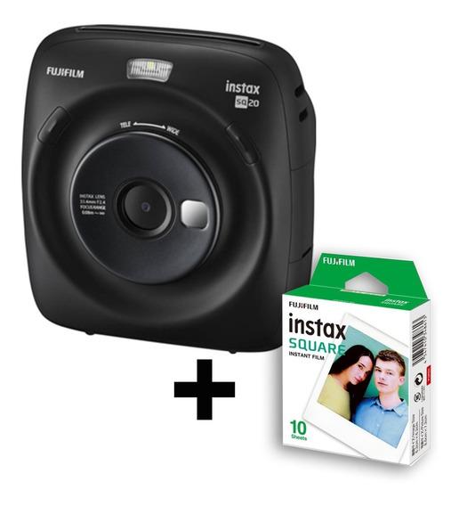 Câmera Instax Square Sq20 + Filme De 10